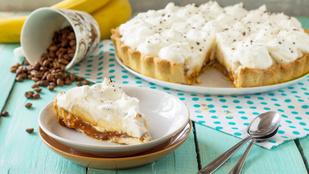 Desszert hedonistáknak: Mogyoróvajas-banános pite