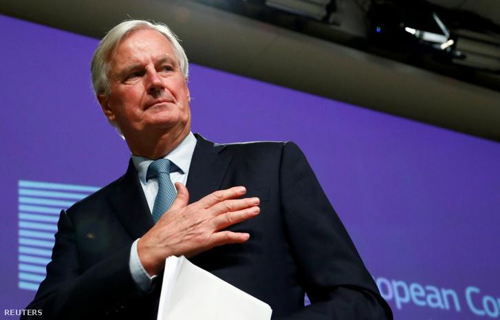 Michel Barnier a brüsszeli sajtótájékoztatón