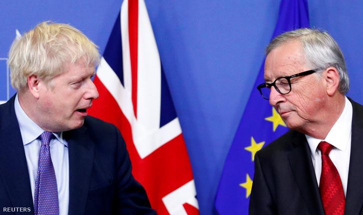 Boris Johnson és Jean-Claude Juncker 2019. október 17-én.