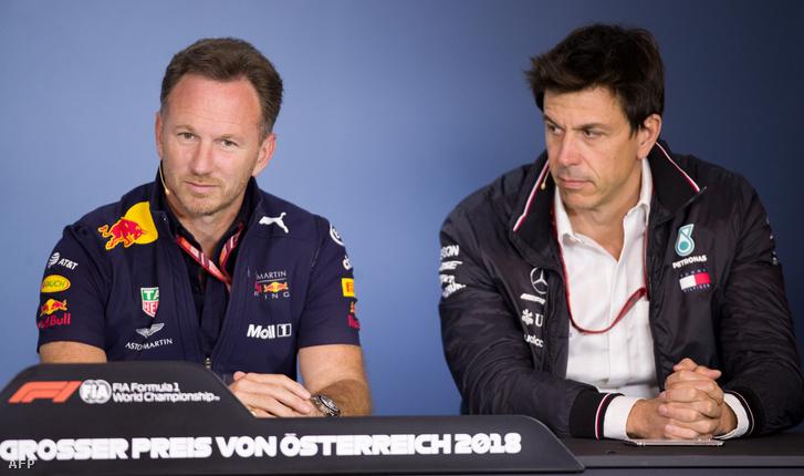 Horner Red Bull- és Wolff Mercedes-főnök – nekik állna érdekükben nekimenni a Ferrarinak