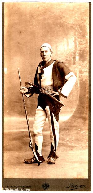 Nopcsa Ferenc albán harci öltözetben - 1913 körül
