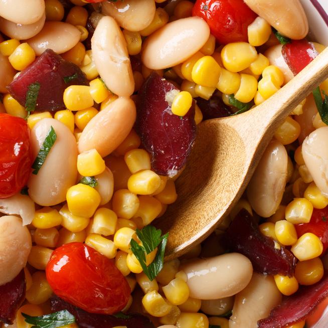 Majdnem chilis bab - A succotash-ban a kukorica dominál