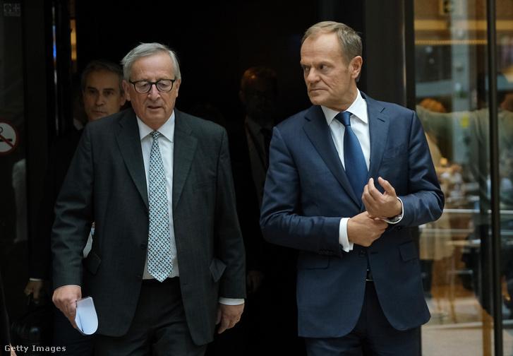 Jean-Claude Juncker és Donald Tusk