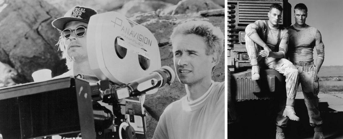 Roland Emmerich és A tökéletes katona c. film szereplői