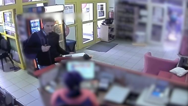 Edzőteremből lopott táskát, felvette a biztonsági kamera