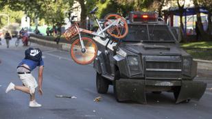Rendkívüli állapotot hirdettek az erőszakossá vált chilei tüntetések miatt