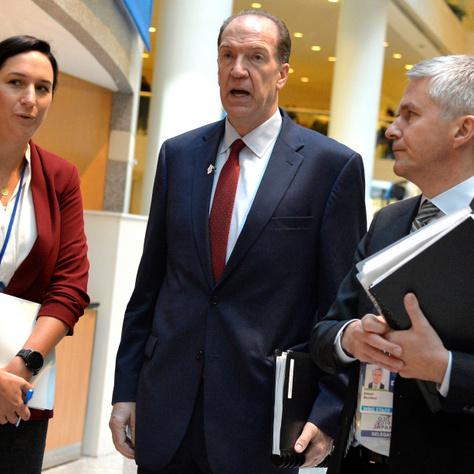 David Malpass, a Világbank elnöke érkezik a washingtoni találkozóra