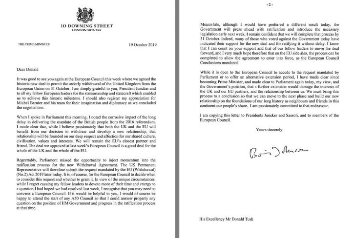 A Donald Tusknak címzett levél