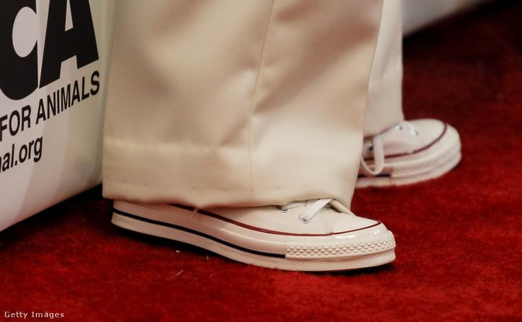 A fotós úgy érezte, hogy érdemes külön megörökíteni, Kim Basinger milyen cipőt választott erre a vörösszőnyeges alkalomra.