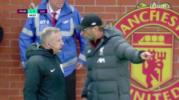 Klopp tajtékzott, a Manchester United megakasztotta a Liverpoolt