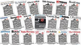 Kihúzott oldalakkal tüntetnek az ausztrál lapok a kormány ellen