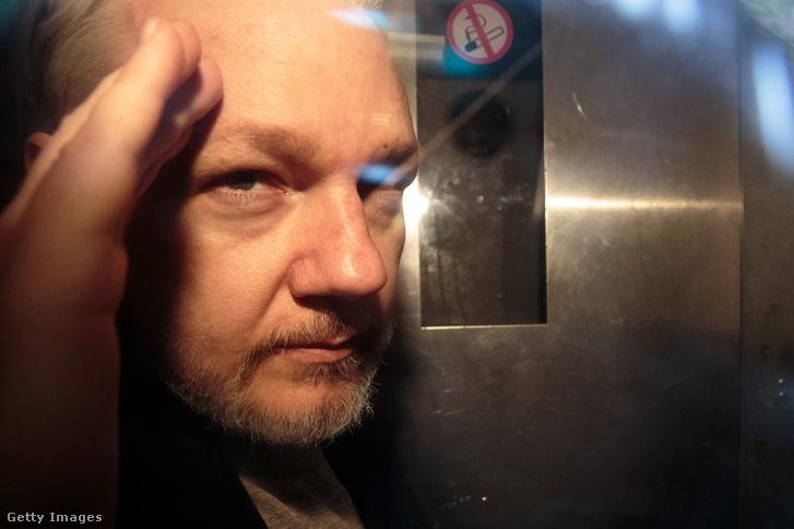Julian Assange 2019 májusában