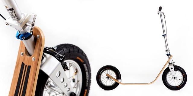 Prémium roller: Kompakt, mint egy városi roller, mégis annyit tud, mint egy kerékpár. (Kép forrása: www.boardyonboard.com)