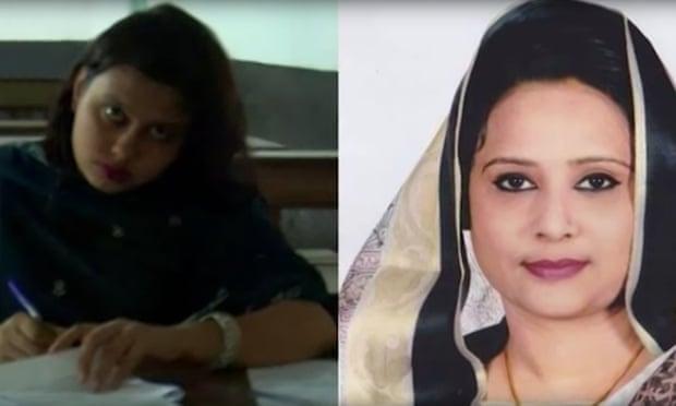 Az egyik nő, aki Tamanna Nusrat nevében vizsgázott