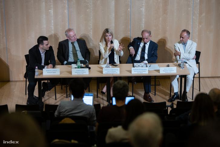 Balról-jobbra: László Róbert, Tóka Gábor, Maryna Vorotnyuk, Wojciech Sadurski, Enyedi Zsolt