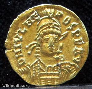Solidus (érme) Julius Nepos császár arcképével