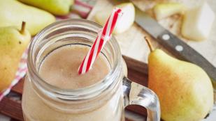 Karamellás-körtés, zabos smoothie – olyan, mintha sütit ennél