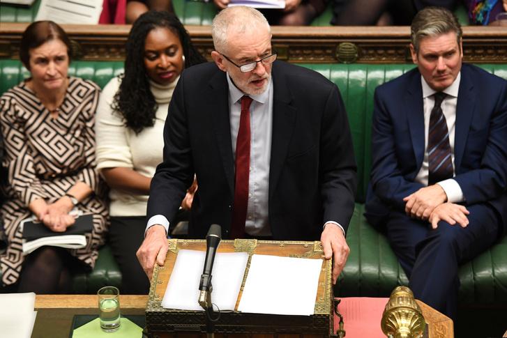 Jeremy Corbyn a brit parlamentben 2019. október 21-én.