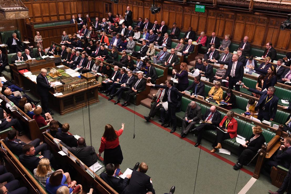 Boris Johnson a brit parlamentben 2019. október 22-én.