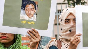 Halálra ítéltek 16 bangladesit, amiért felgyújtottak egy diáklányt