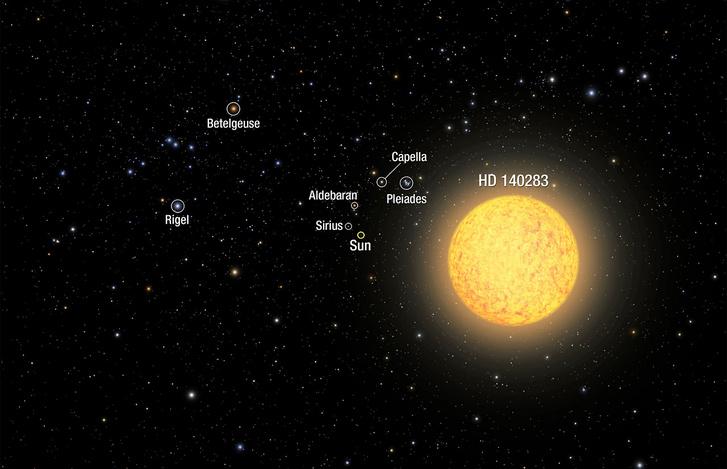 Illusztráció a valaha felfedezett legidősebb csillagról