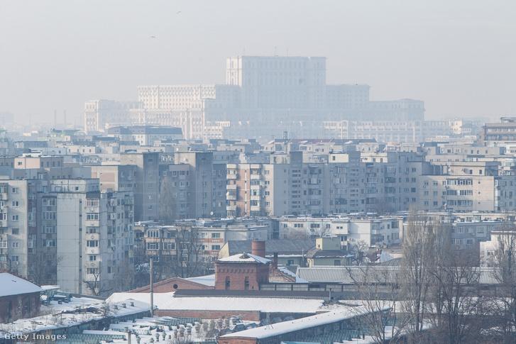 Szmog Bukarest felett 2017-ben