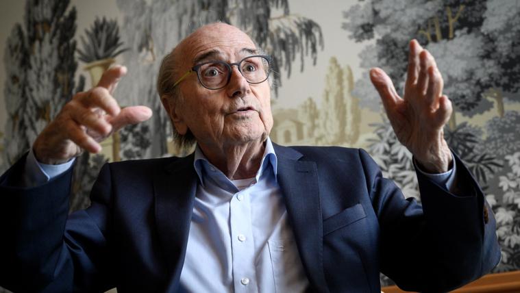 Sepp Blatter egy májusi interjún, Zürichben