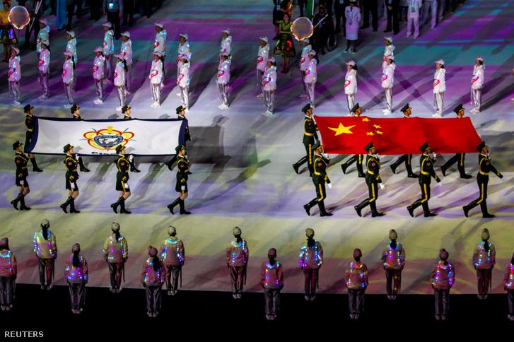 A Katonai Világjátékok megnyitó rendezvénye