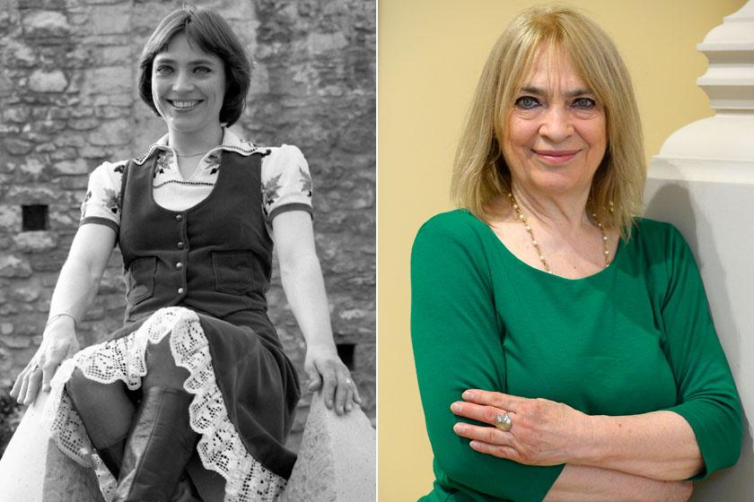 Kovács Kati 1976-ban és napjainkban. Éveket letagadhatna a korából.