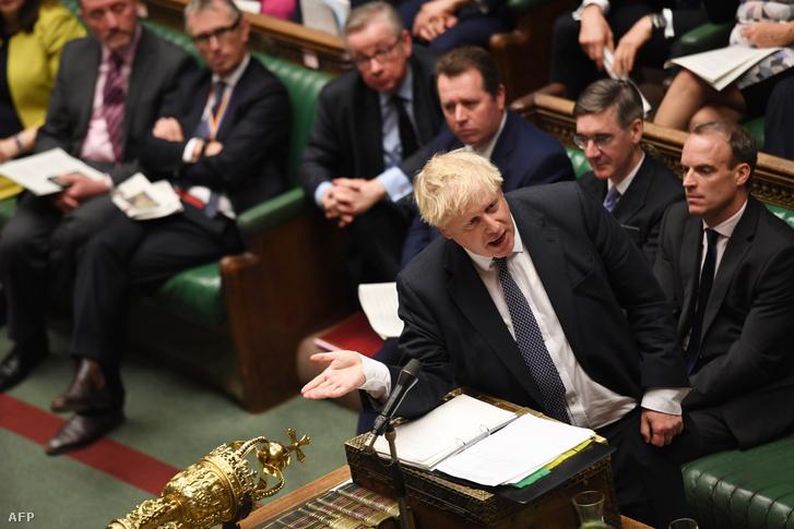 Boris Johnson az alsóházban 2019 október 23-án