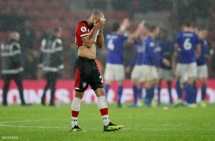 Nathan Redmond a Southampton játékosa a meccs végén
