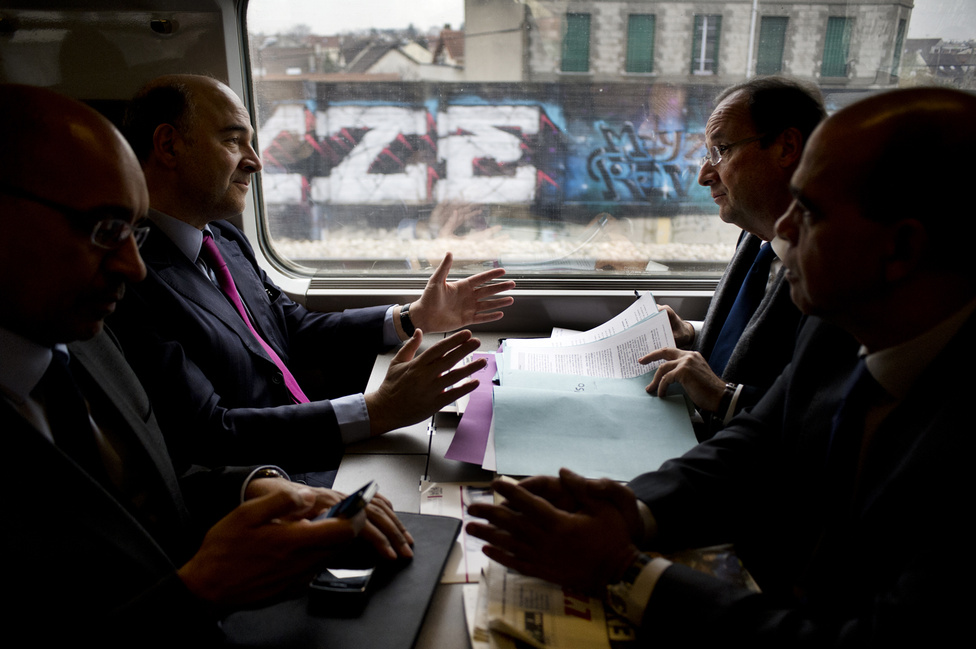A TGV-n Párizs és London között. 2012. február 29.