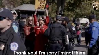 Letartóztatása közben mondott köszönőbeszédet egy díjért Jane Fonda