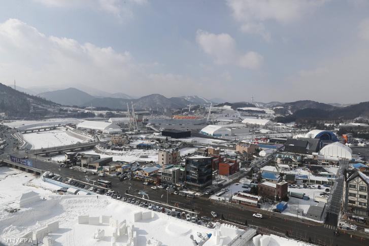 A phjongcshangi téli olimpia nyitó- és záróünnepségének otthont adó Olimpiai Stadion