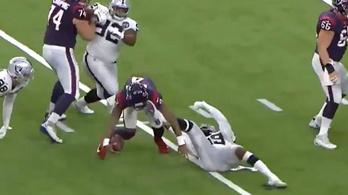 Sisakon keresztül rúgták szemen az NFL-est, így is touchdownt dobott