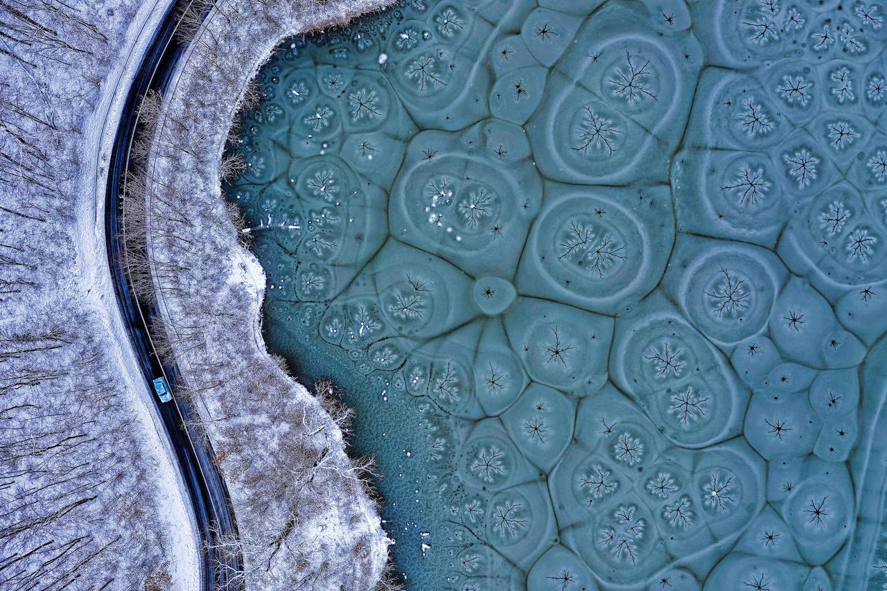 Fraktálmintás tó