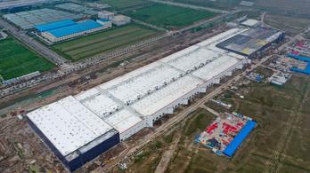 168 nap alatt alatt épült fel a Tesla sanghaji óriásgyára