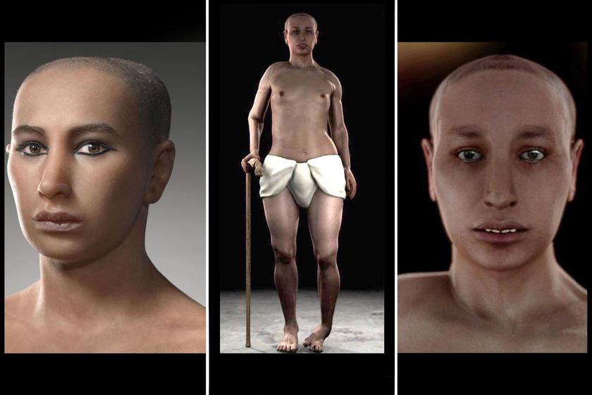 Tutanhamon rekonstrukciói.