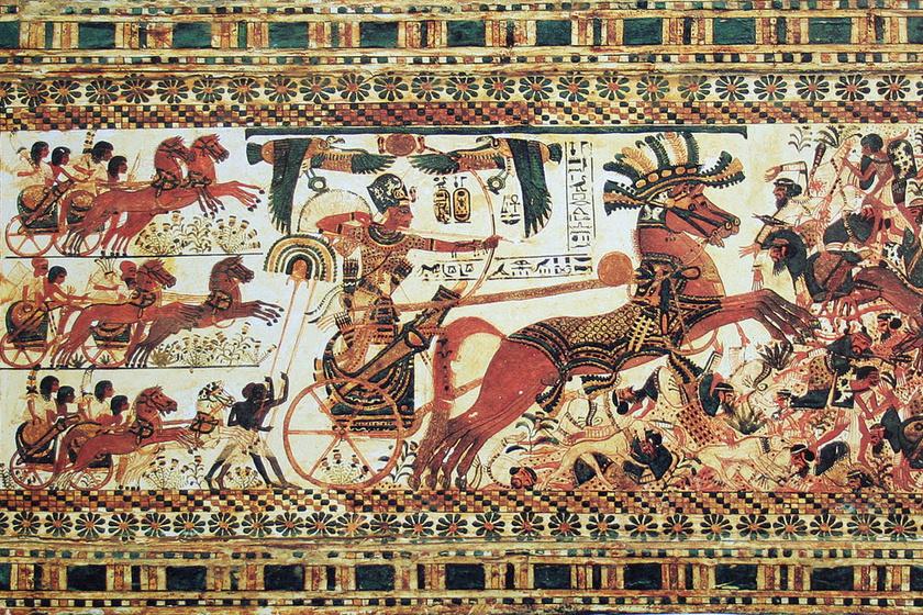 Tutanhamon-ábrázolás.