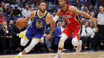 A Warriors 134 pontos győzelemmel támadt fel az NBA-ben