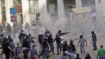 Milicisták támadtak a libanoni kormány ellen tüntetőkre