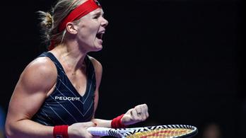 Tenisz-vb: utolsó pillanatban beugró játékos verte a világelsőt