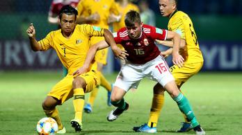 U17-es vb: Ausztrália ellen is nyert helyzetből vesztett pontokat a magyar válogatott