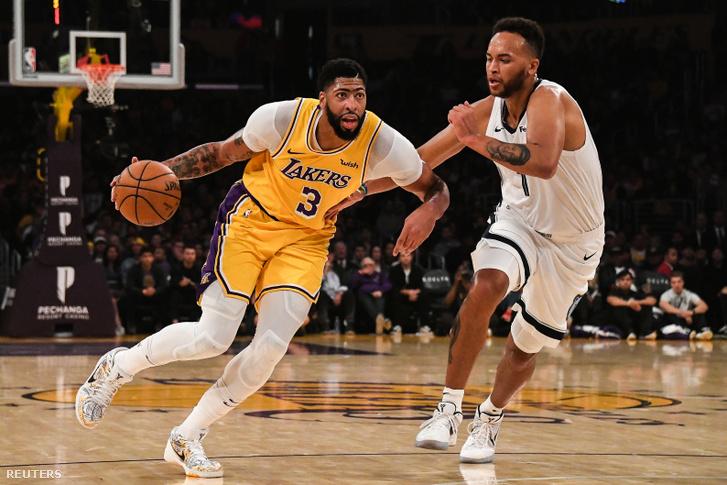 Anthony Davis és Kyle Anderson a Lakers kontra Memphis mérkőzésen