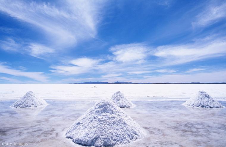 Sóhegyek BolíviábanEzek a buckák nem hó-, hanem sókupacok