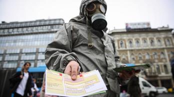 Putyin ellen tüntet az ellenzék Budapest-szerte