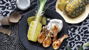 Együtt az édes, a sós és a csípős: ananászos csirkecombok