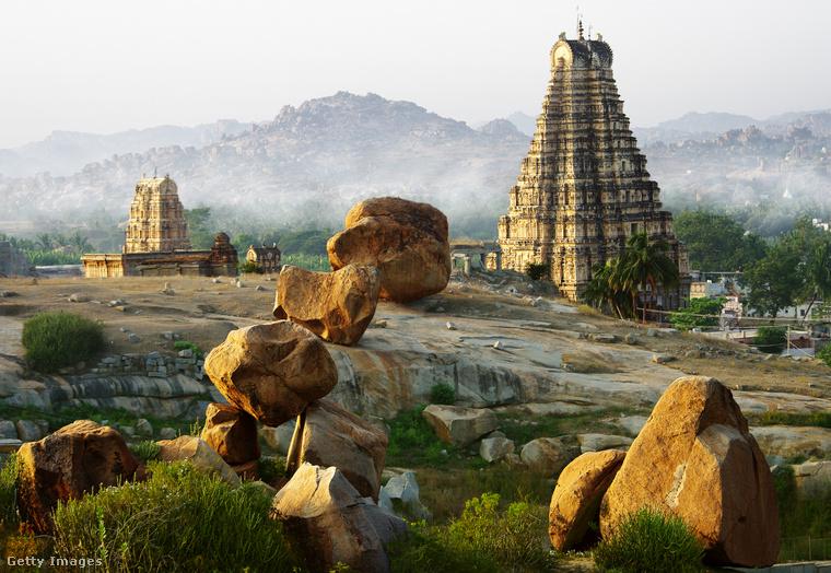 A hindu uralkodók városaHampi India történelmi települése