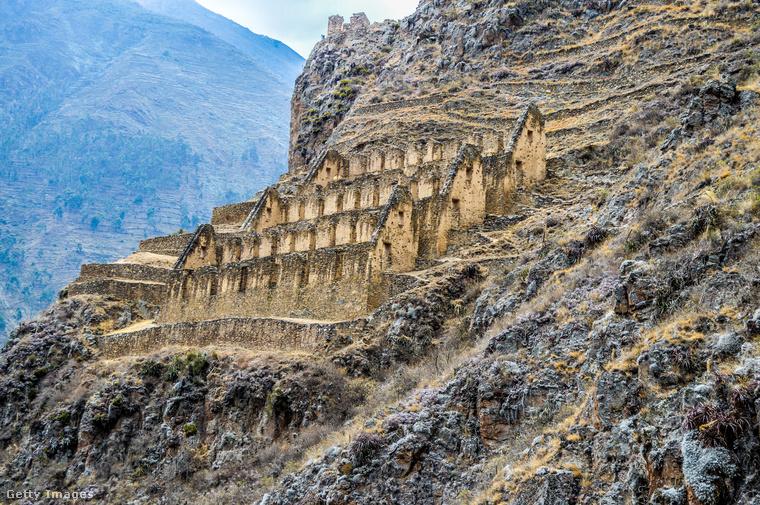 Az inka erődOllantaytambo szintén az inkáknak köszönhető