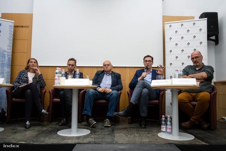 Baranyi Krisztina, Őrsi Gergely, László Imre, Karácsony Gergely és Pikó András